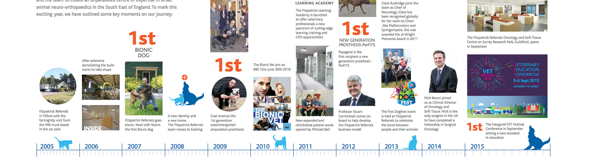 Fitzpatrick Referrals Orthopaedics & Neurology and Oncology and Soft Tissue Hospital, 10 year timeline