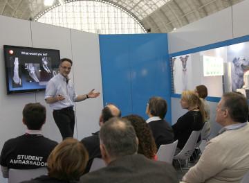 Professor Noel Fitzpatrick giving a FitzBite Lecture at London Vet Show 2014