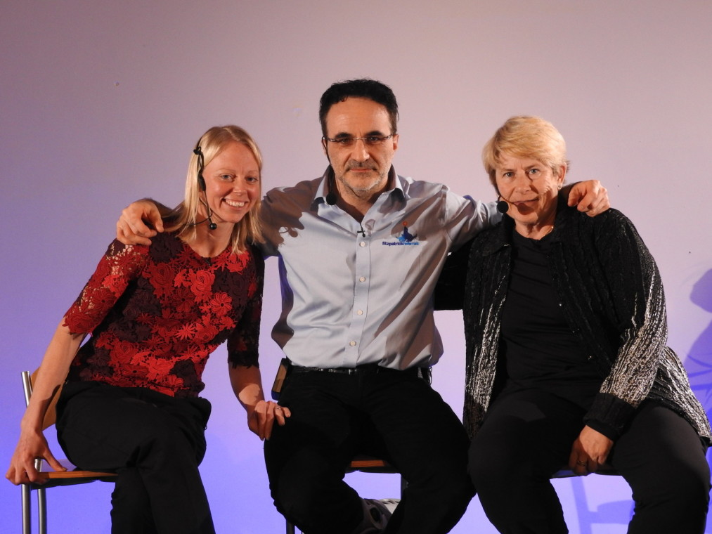 Professor Noel Fitzpatrick with Dr Chris Zink and Natasha Wise who all lectured at the Inaugural FORWARD Symposium at the Wildwood Golf and Country Club in Alfold, Surrey