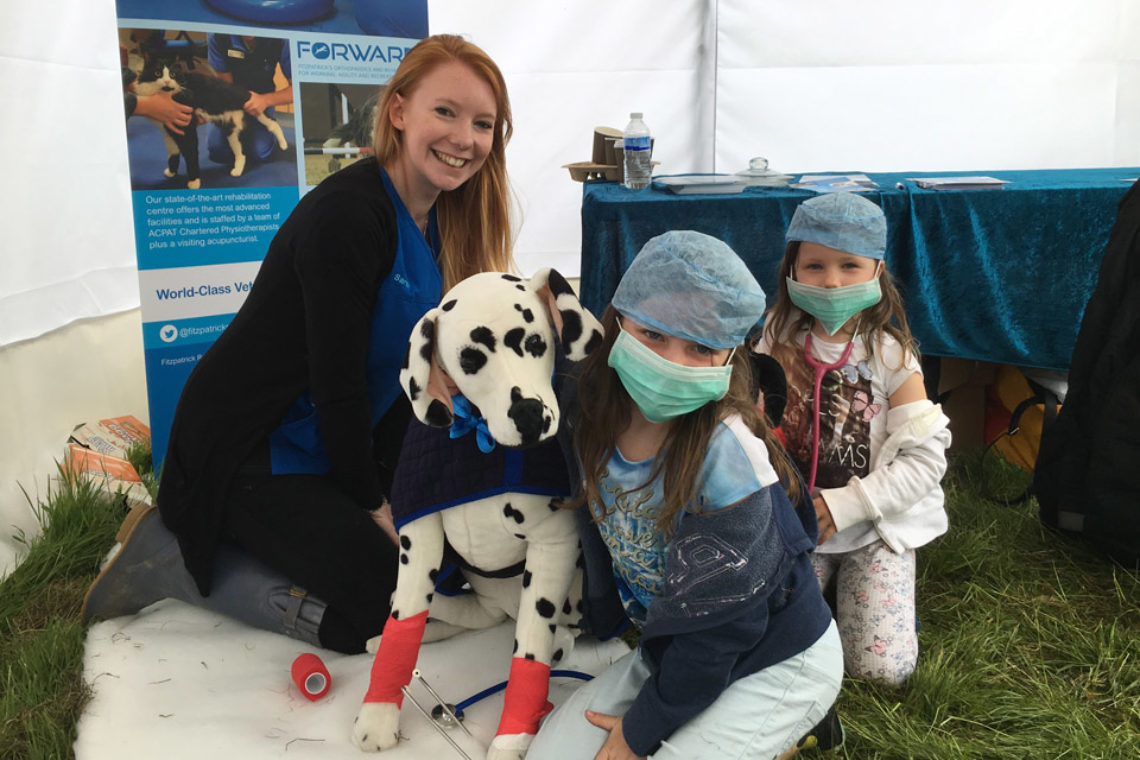Veterinary Nurse Sarah representing Fitzpatrick Referrals at DogFest