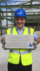 Professor Noel Fitzpatrick with Fitzpatrick Institute for the Restoration of Skeletal Tissue (FIRST) plaque