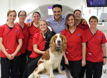 Advanced Diagnostic Imaging team with Noel Fitzpatrick on World Radiography Day 2018