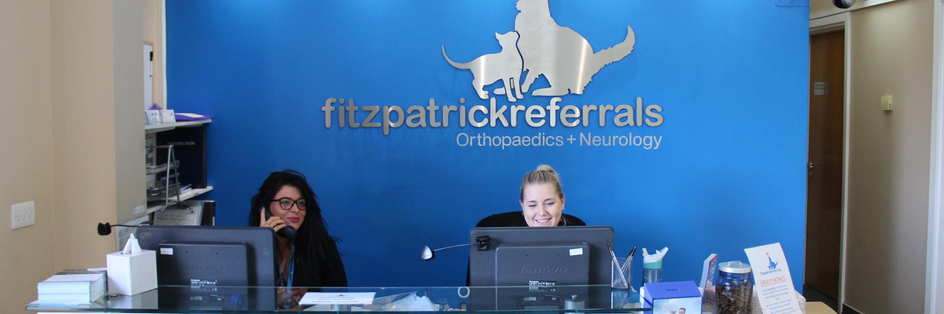 Receptionists at Fitzpatrick Referrals Orthopaedics and Neurology