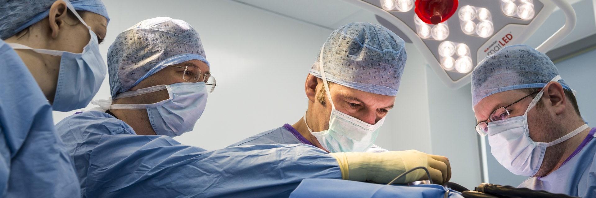 Clinical Director Nick Bacon in surgery at Fitzpatrick Referrals Oncology hospital