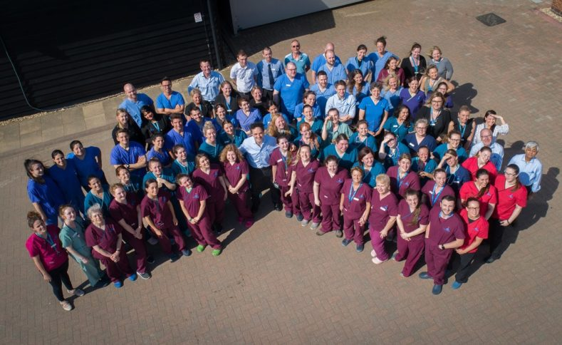 Aerial team photo of Fitzpatrick Referrals Orthopaedics and Neurology team