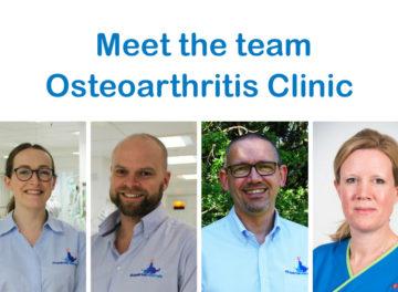Fitzpatrick Referrals Osteoarthritis Clinic Team - Fraje Watson, Cameron Black, Pete van Dongen and Fiona Doubleday