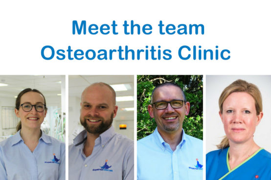 Fitzpatrick Referrals Osteoarthritis Clinic Team - Fraje Watson, Cameron Black, Pete van Dongen and Fiona Doubleday