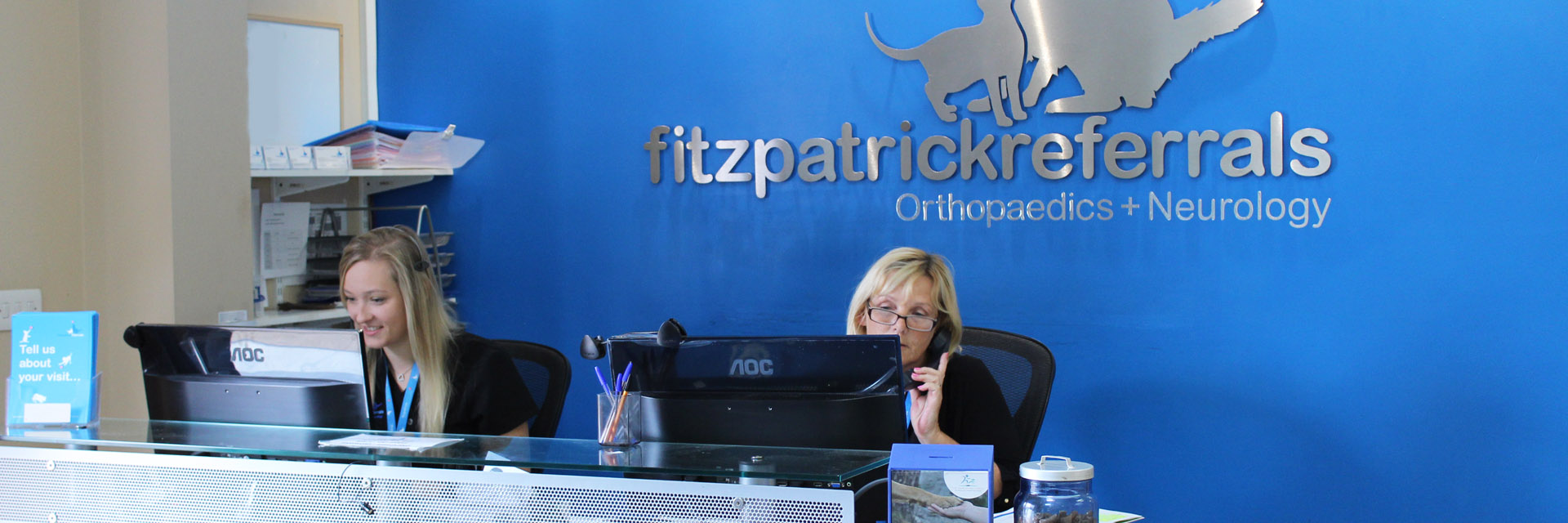 Receptionists at Fitzpatrick Referrals Orthopaedics and Neurology