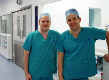 Gerard McLauchlan, Fitzpatrick Referrals and Alex Horton, Royal Surrey hospital
