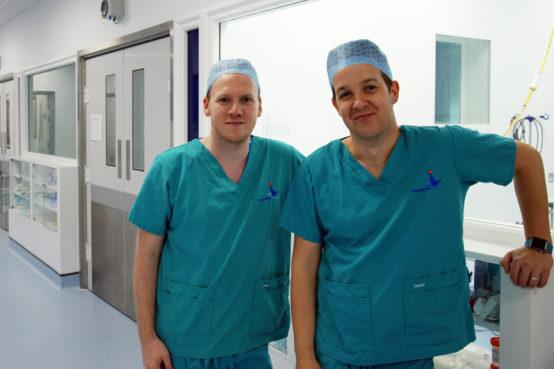 Gerard McLauchlan, Fitzpatrick Referrals and Alex Horton, Royal Surrey hospital