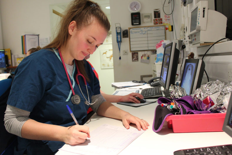 Registered Veterinary Nurse Gabby in the Advanced Diagnostic Imaging department at Fitzpatrick Referrals