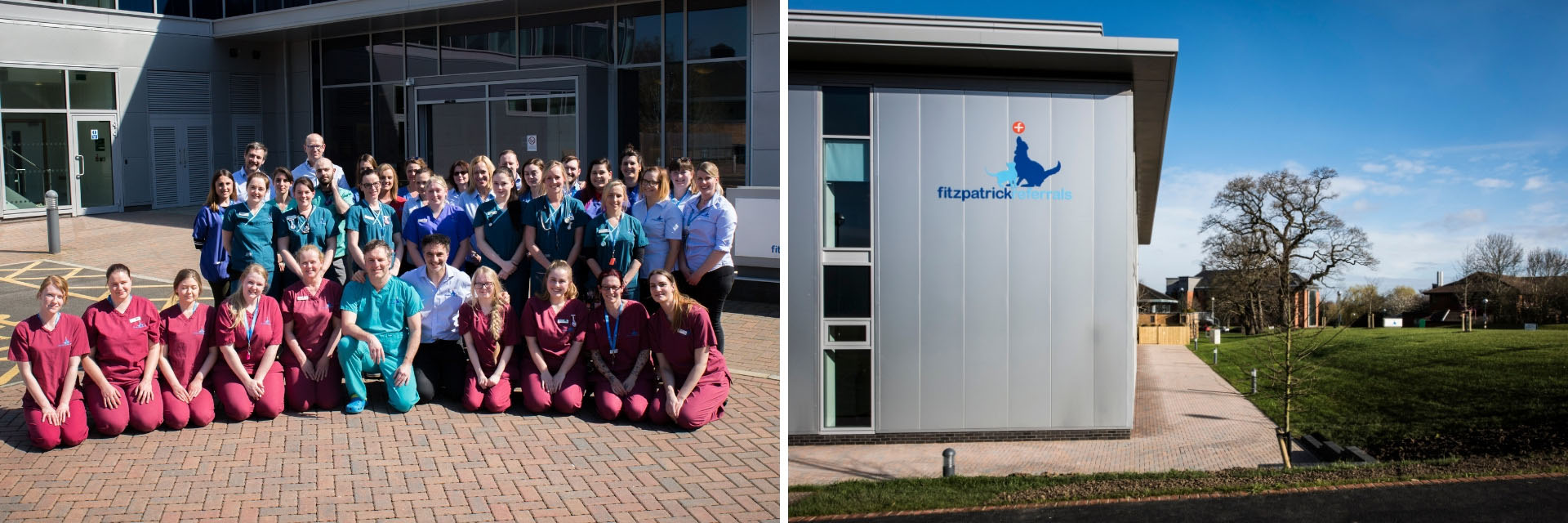 Fitzpatrick Referrals Oncology & Soft Tissue team photo and hospital exterior