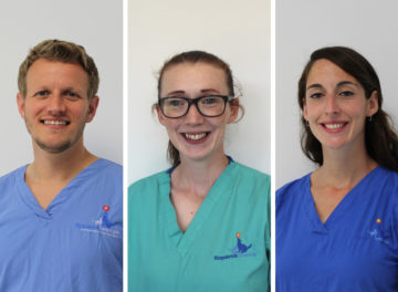 Dr Guillaume Leblond, Dr Laura Macfarlane and Dr Daisy Norgate, clinicians at Fitzpatrick Referrals