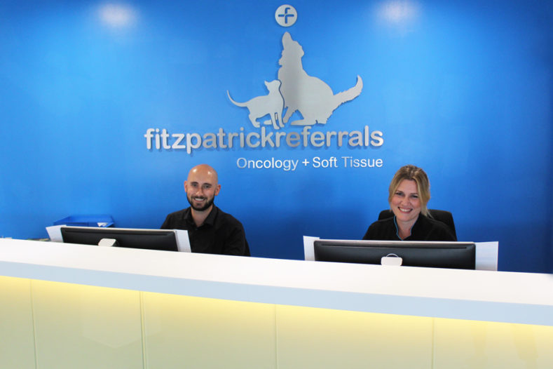 Front of House Reception team at Fitzpatrick Referrals Oncology and Soft Tissue