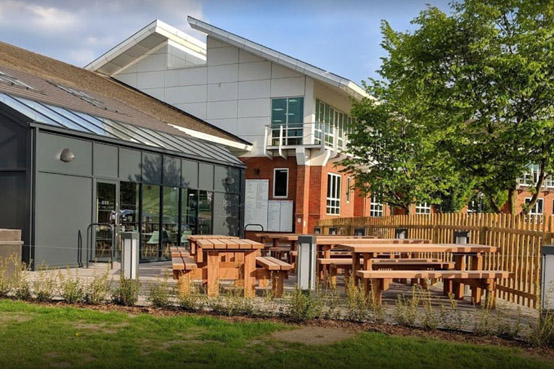 The Hub on the Park cafe on Surrey Research Park in Guildford