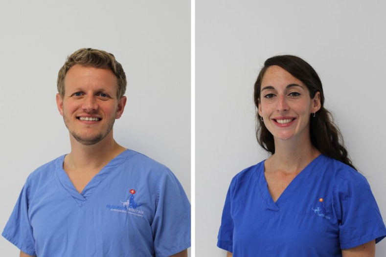 Guillaume Leblond and Daisy Norgate - vets at Fitzpatrick Referrals