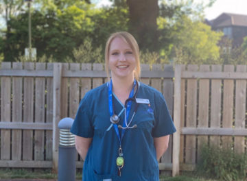 Senior Wards Nurse Laura Symonds