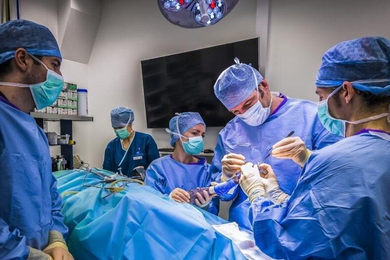 Professor Nick Bacon in surgery