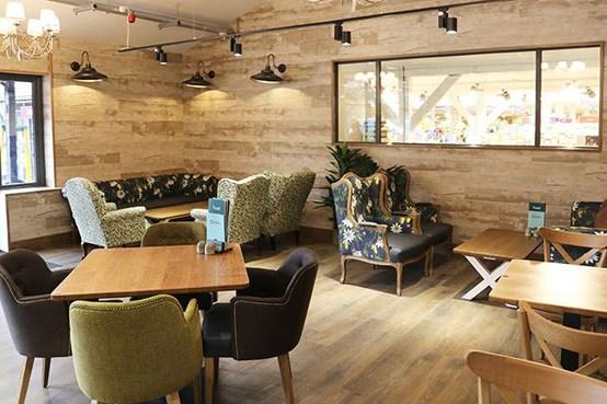Squires Garden Centre cafe in Milford, Surrey